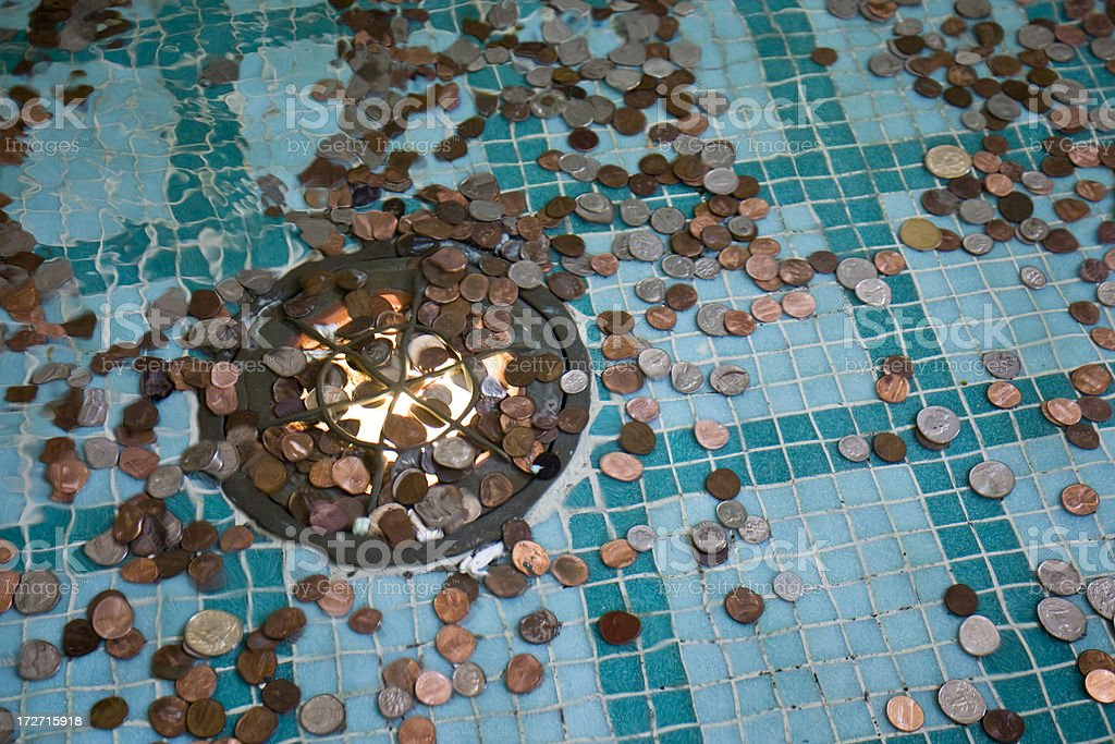 Coins in a Fountain royalty-free stock photo