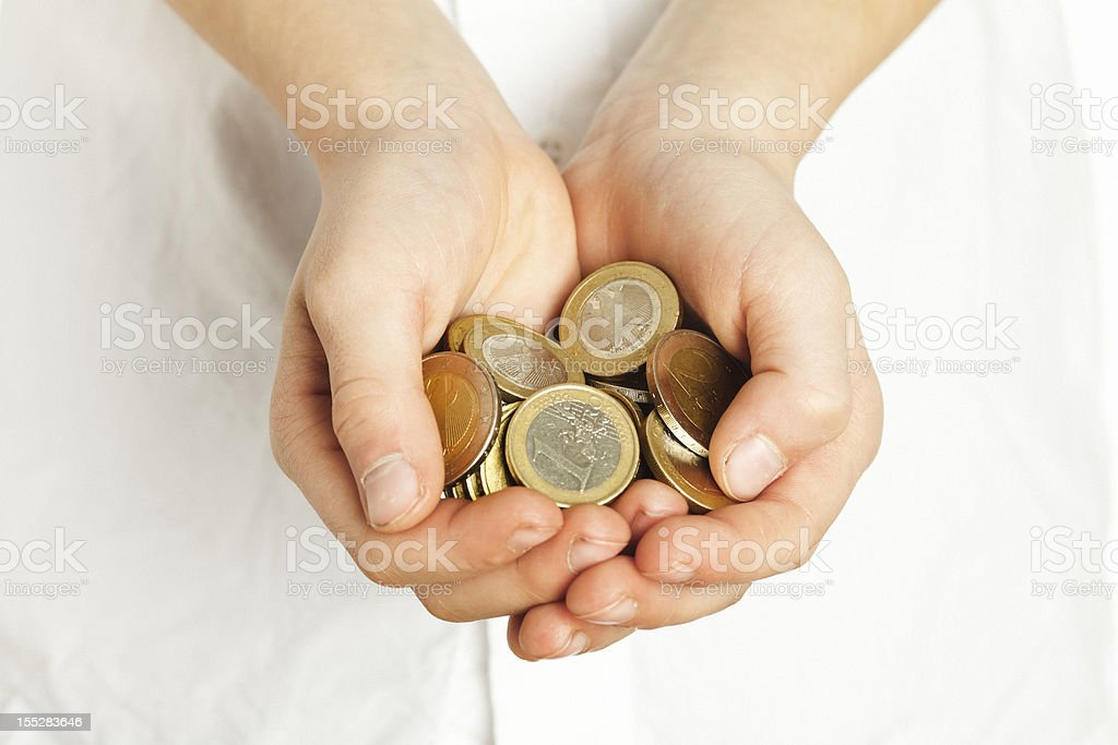 coins in hand. royalty-free stock photo
