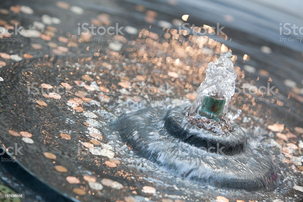 coins in the fountain royalty-free stock photo