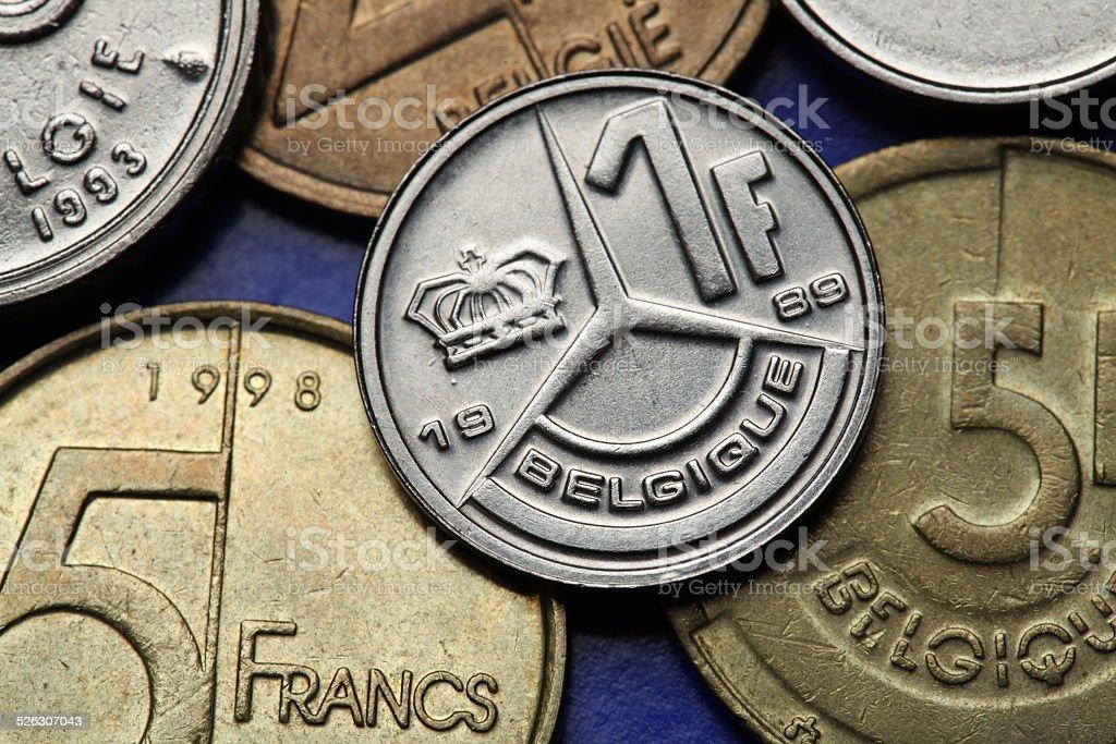 Coins of Belgium stock photo