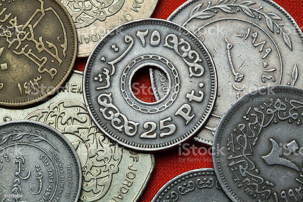 Coins of Egypt stock photo