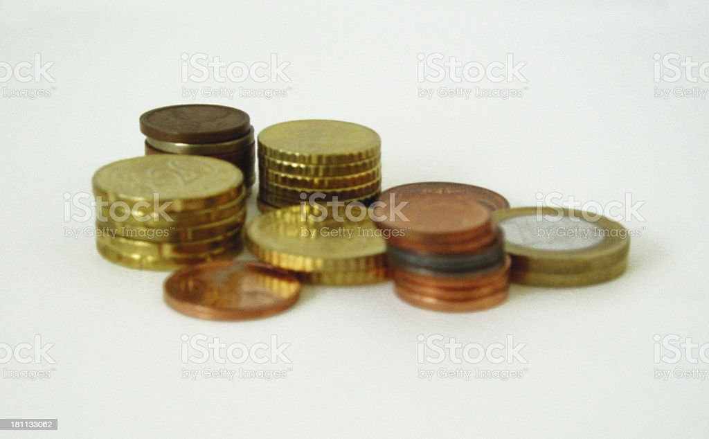 100 coins of europe royalty-free stock photo