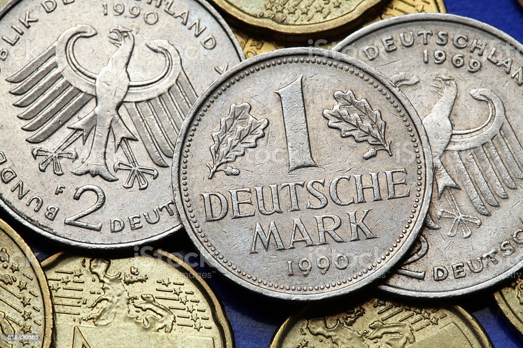 Coins of Germany stock photo