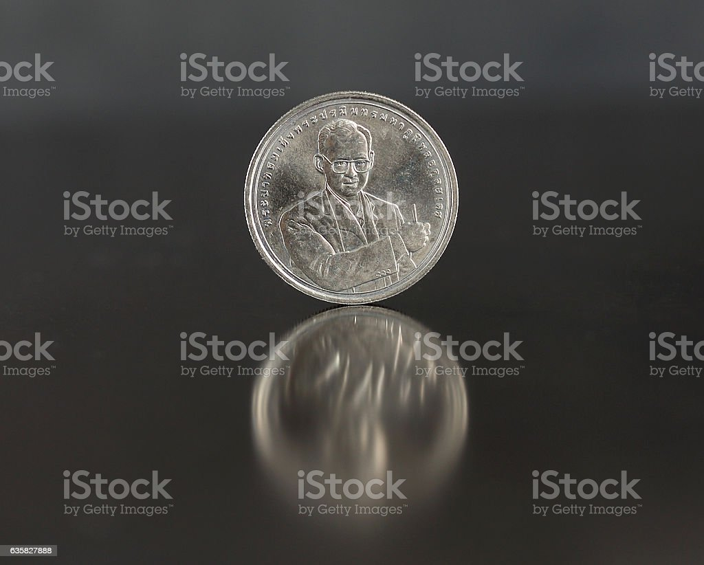 Coins of Thailand, stock photo