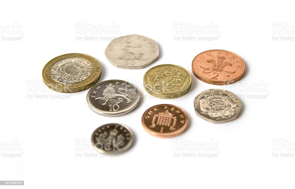 Coins of the realm stock photo