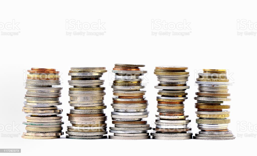 coins of the world royalty-free stock photo