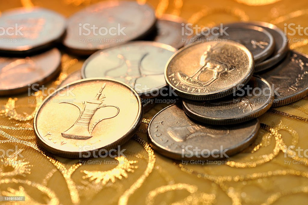 coins of uae stock photo