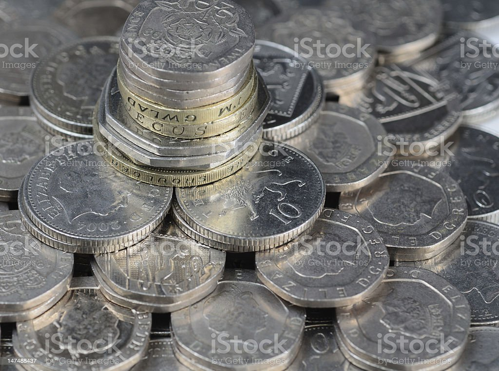 UK coins stock photo
