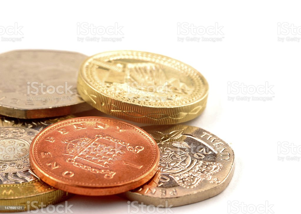 UK coins royalty-free stock photo