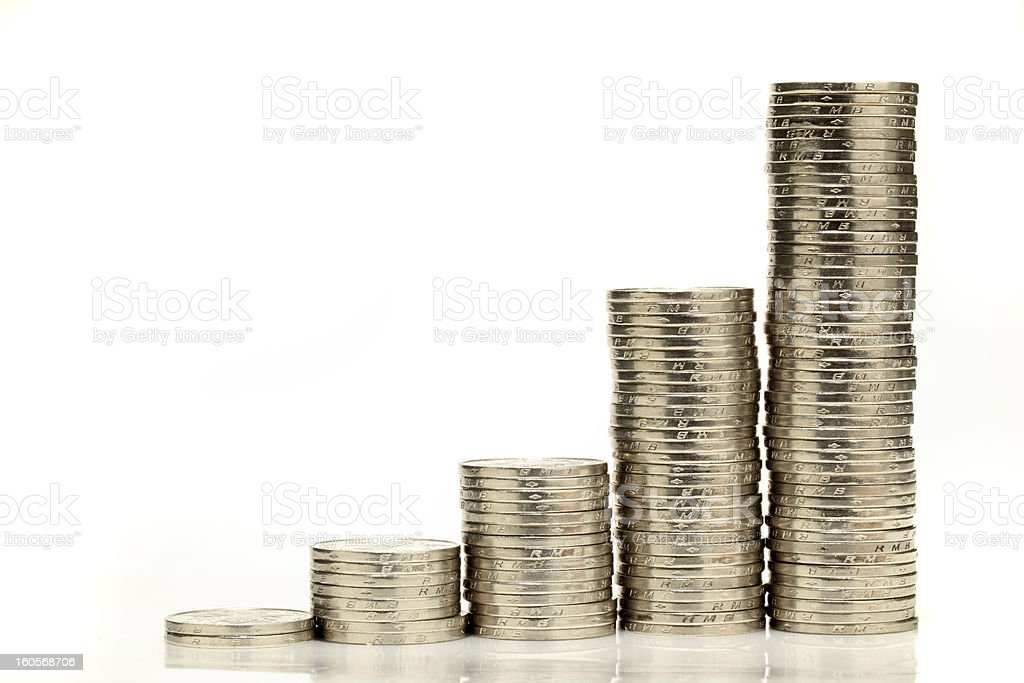 Coins stock photo