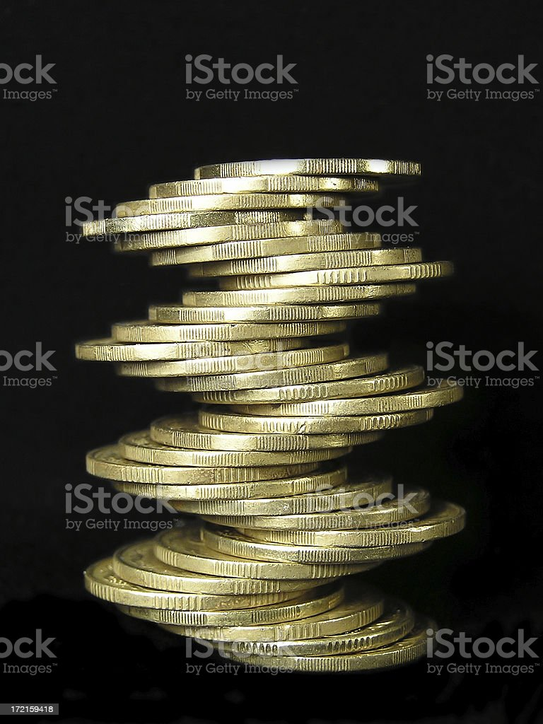GOLD  coins!!!! stock photo