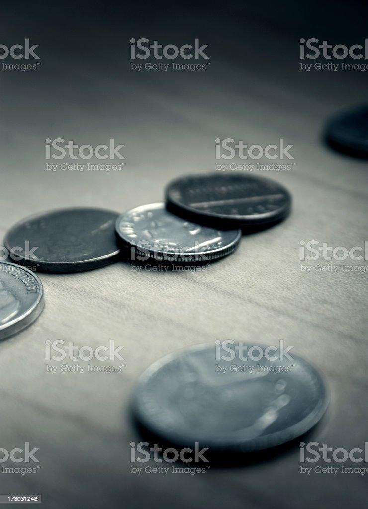 Coins stock photo