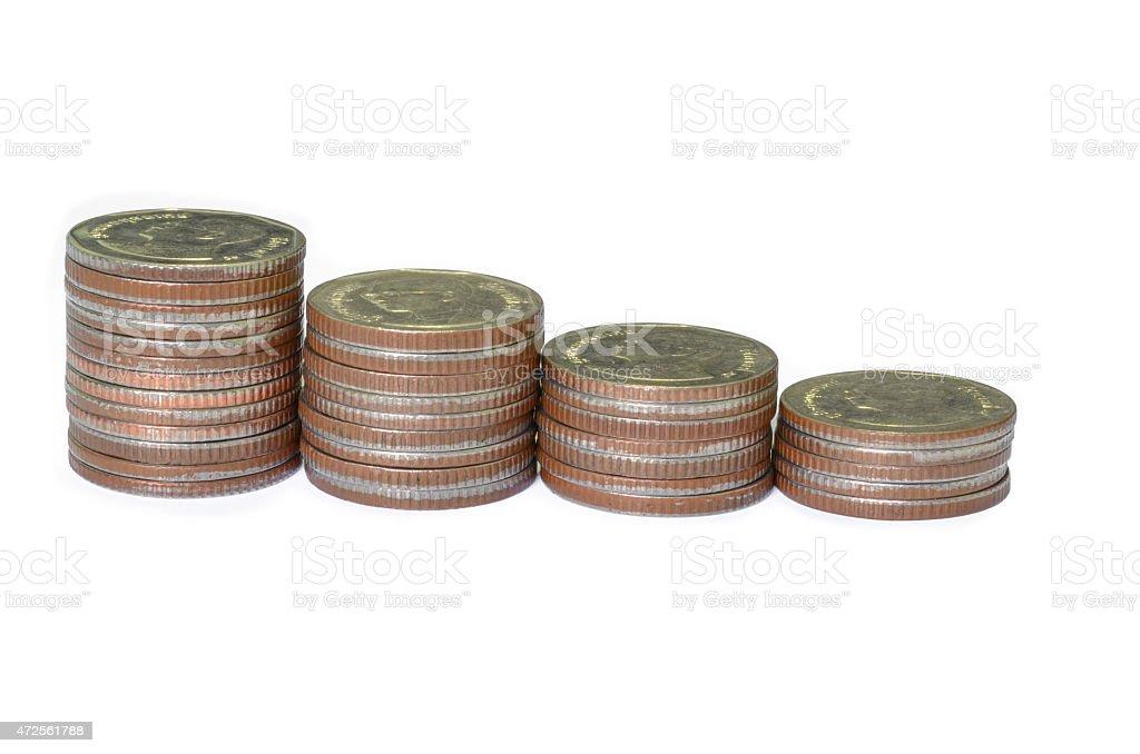 Monety zbiór zdjęć royalty-free