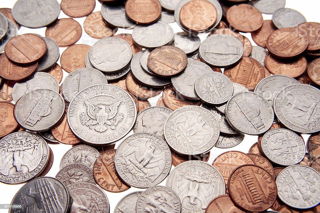 U.S. coins royalty-free stock photo