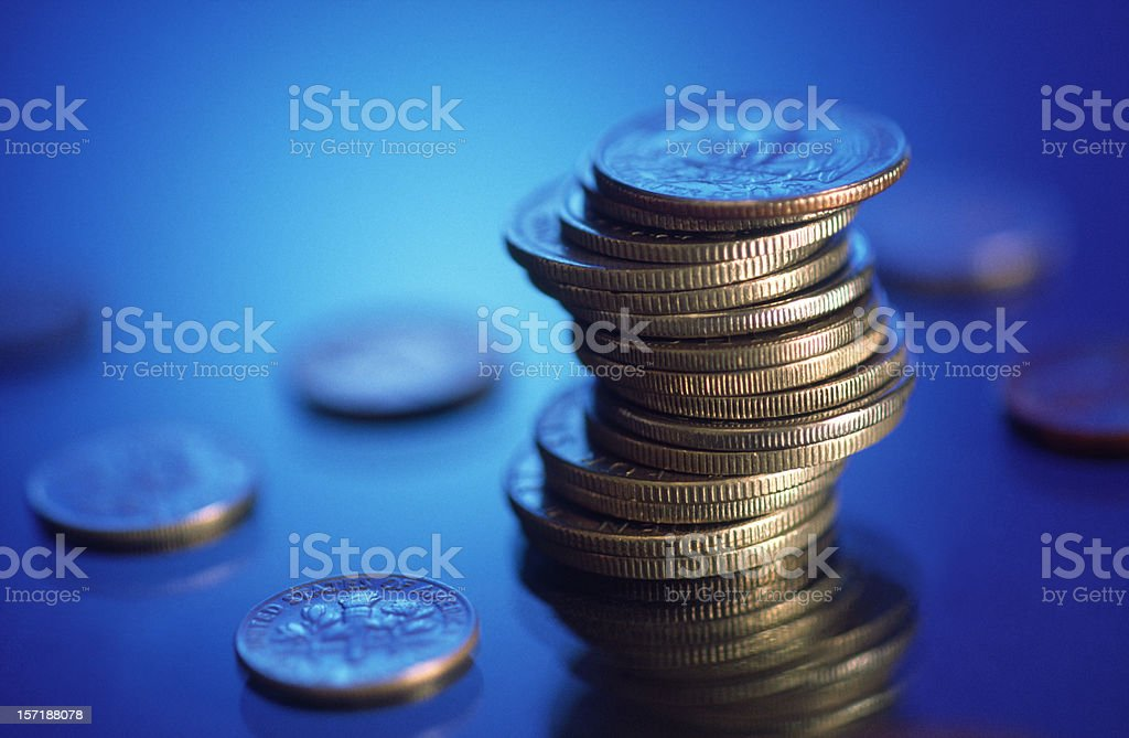 Coins Piles royalty-free stock photo