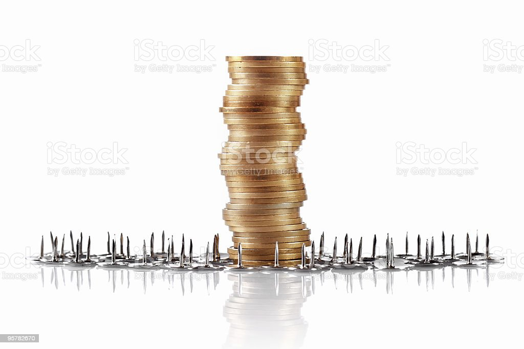coins, safekeeping concept stock photo