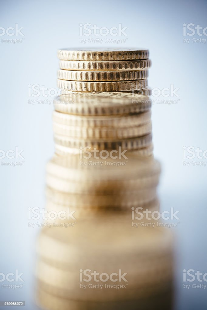 Coins, Savings stock photo