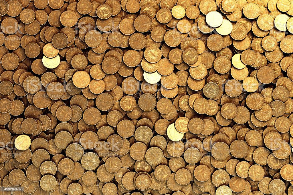 Coins Spread stock photo