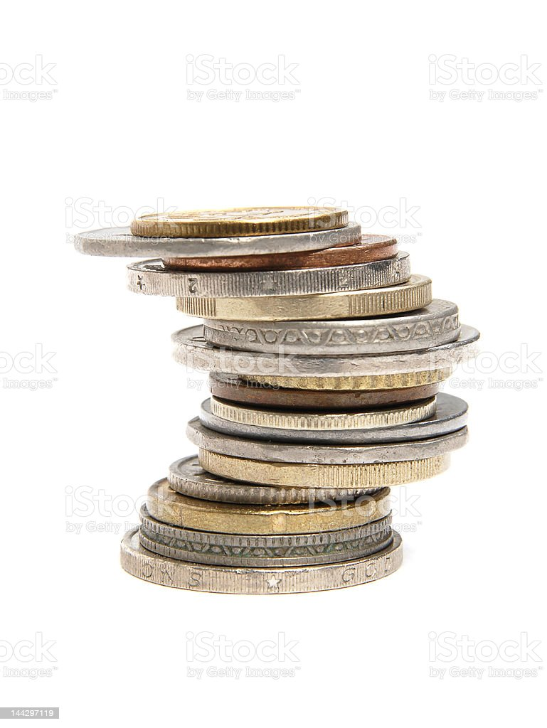 coins stack 2 royalty-free stock photo