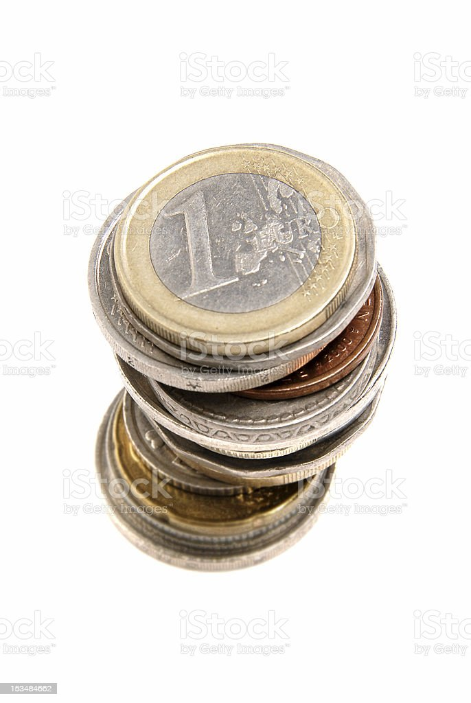 coins stack stock photo