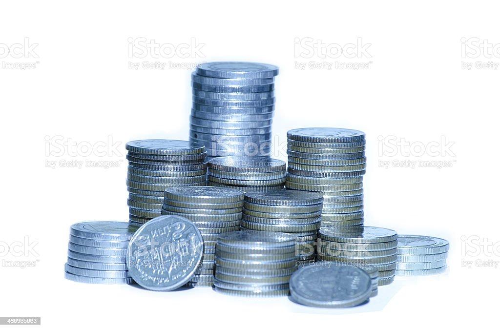 Stos monet zbiór zdjęć royalty-free