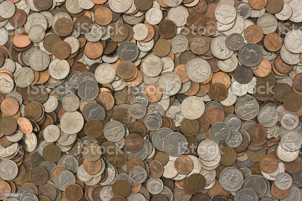 U.S. Coins Texture stock photo
