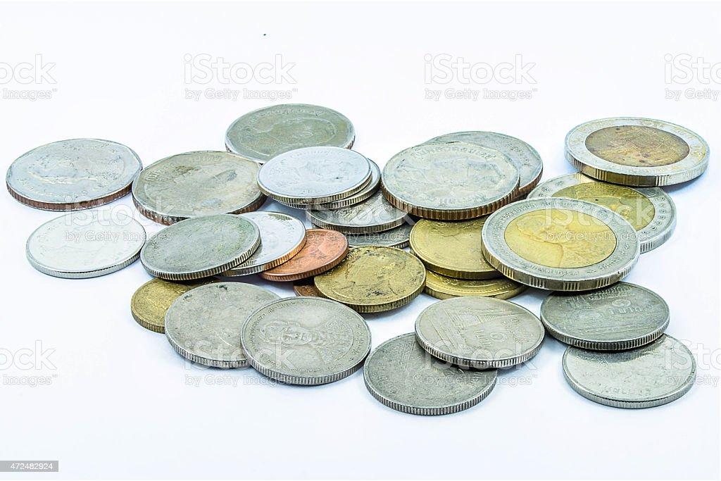 Münzen thailand Lizenzfreies stock-foto