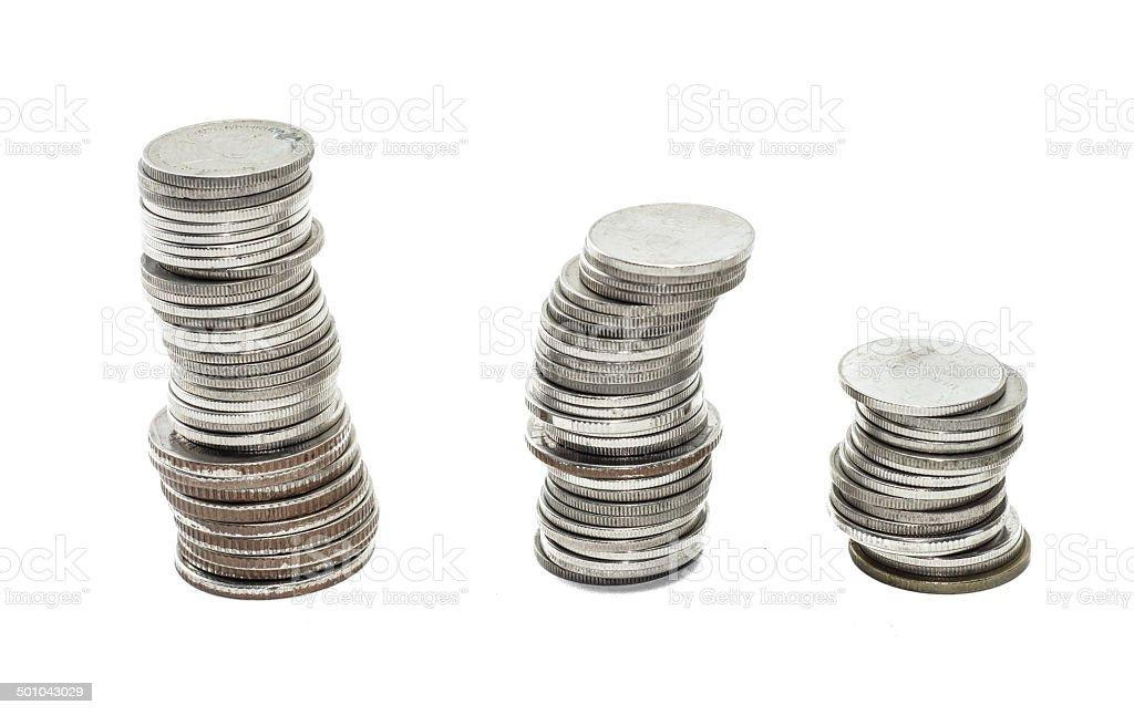 coins thailand stock photo