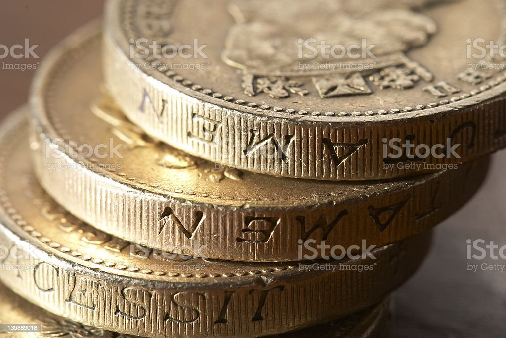 UK Coins2 royalty-free stock photo