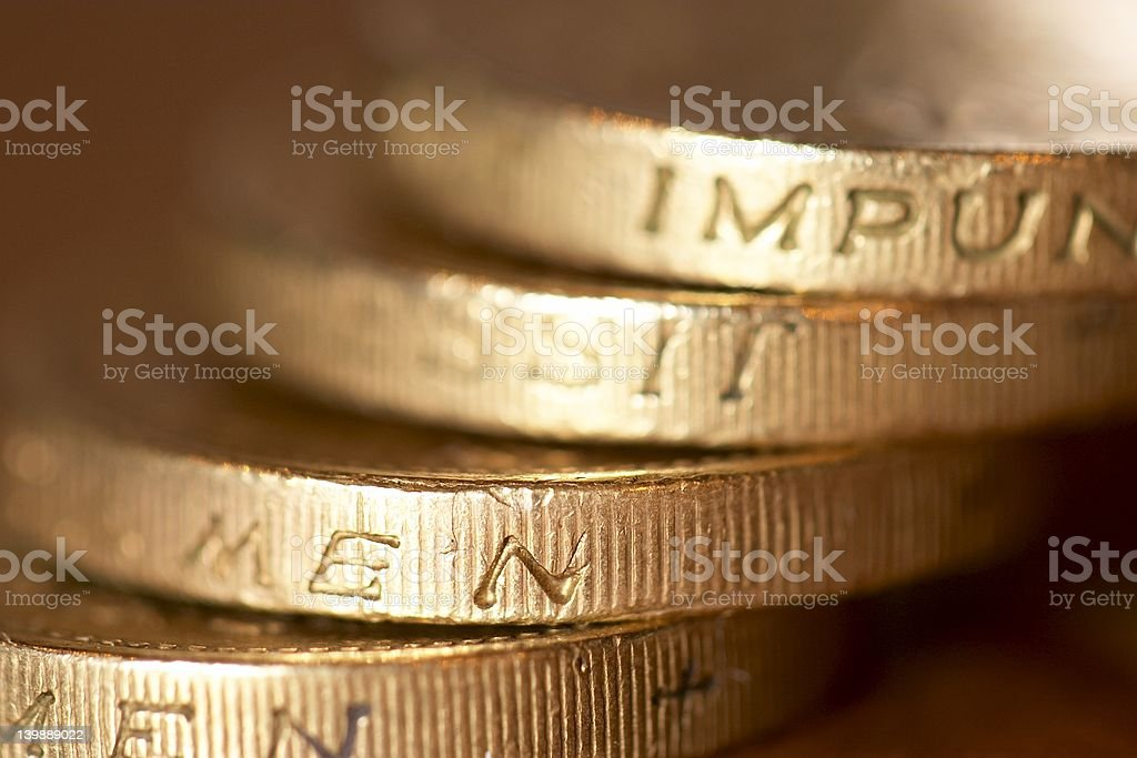 UK Coins4 royalty-free stock photo