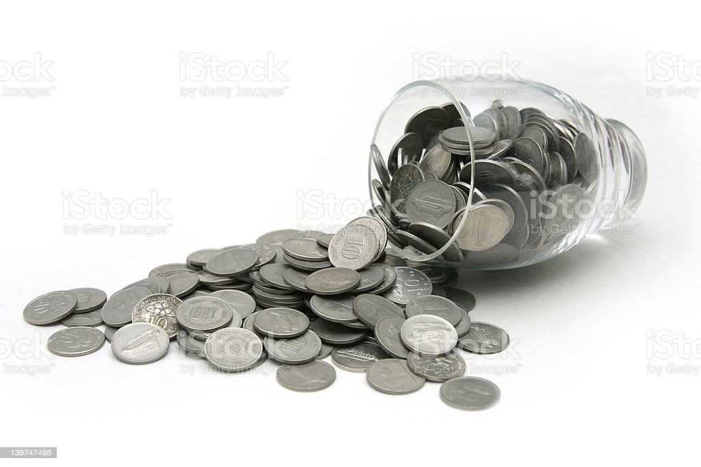 Coins-spill royalty-free stock photo