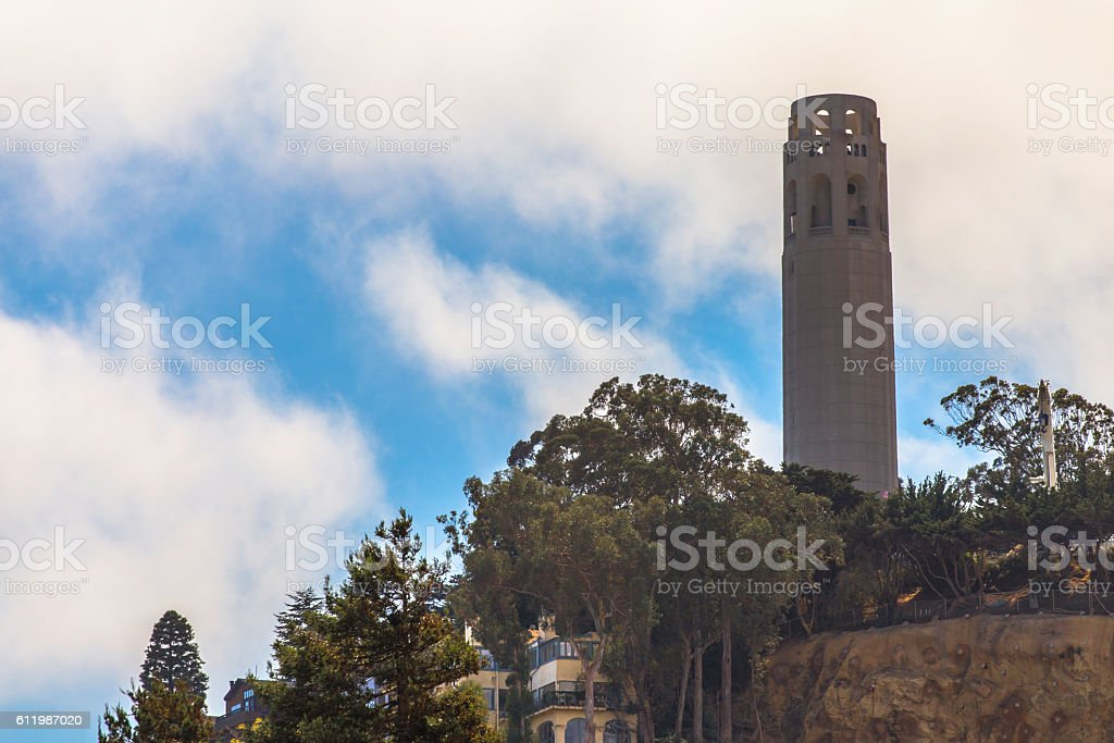 Coit tower in San Fransico CA stock photo