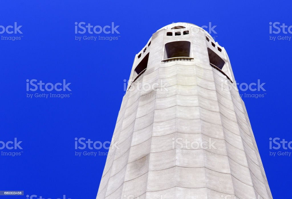 Coit Tower, San Francisco California stock photo