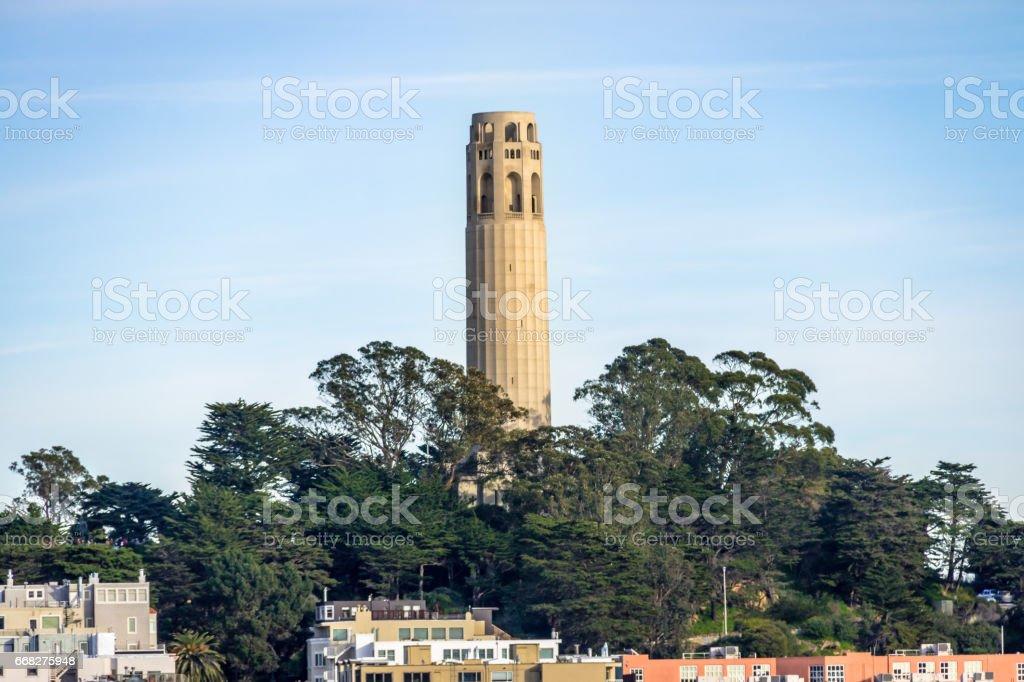 Coit Tower - San Francisco, California, USA stock photo