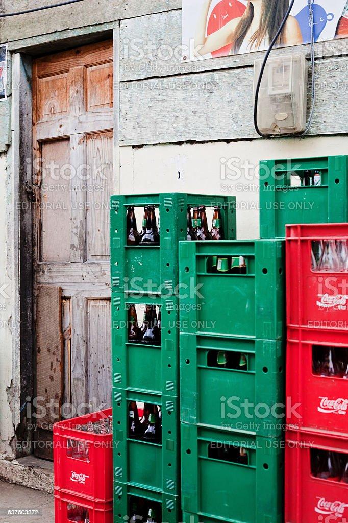 Coke and Beer stock photo