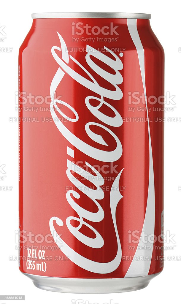 Coke Can stock photo
