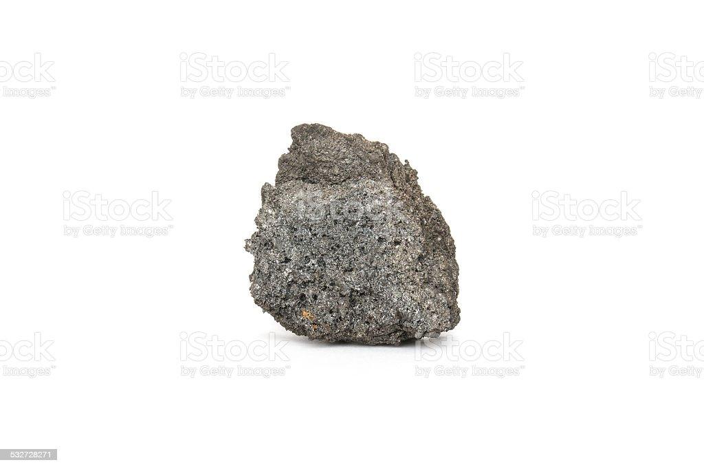 Coke Coal on white background stock photo