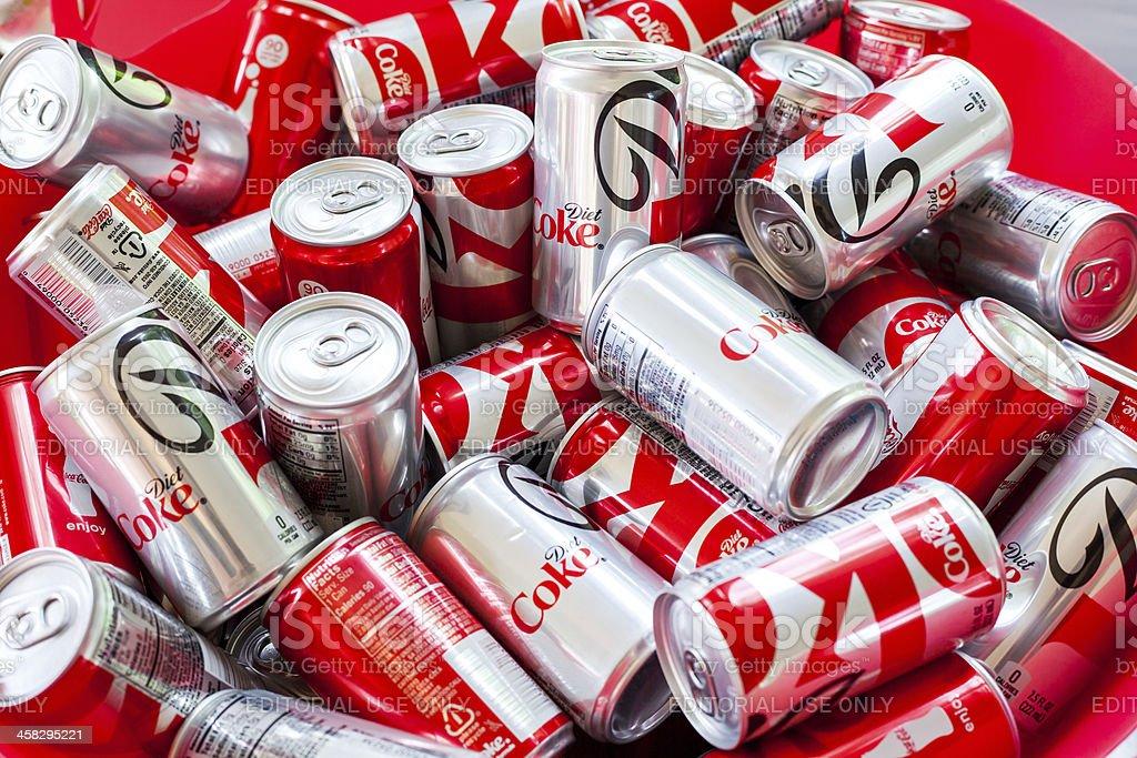 Coke in a Bin royalty-free stock photo