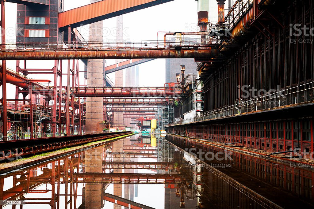Coke oven Zollverein stock photo