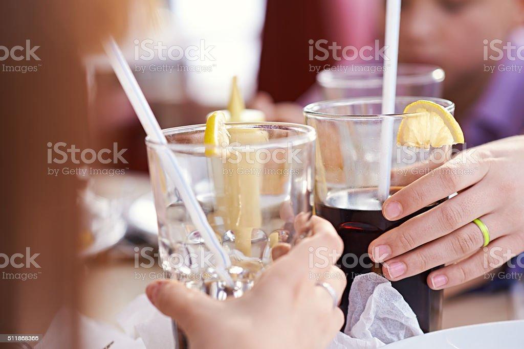 Coke toast stock photo