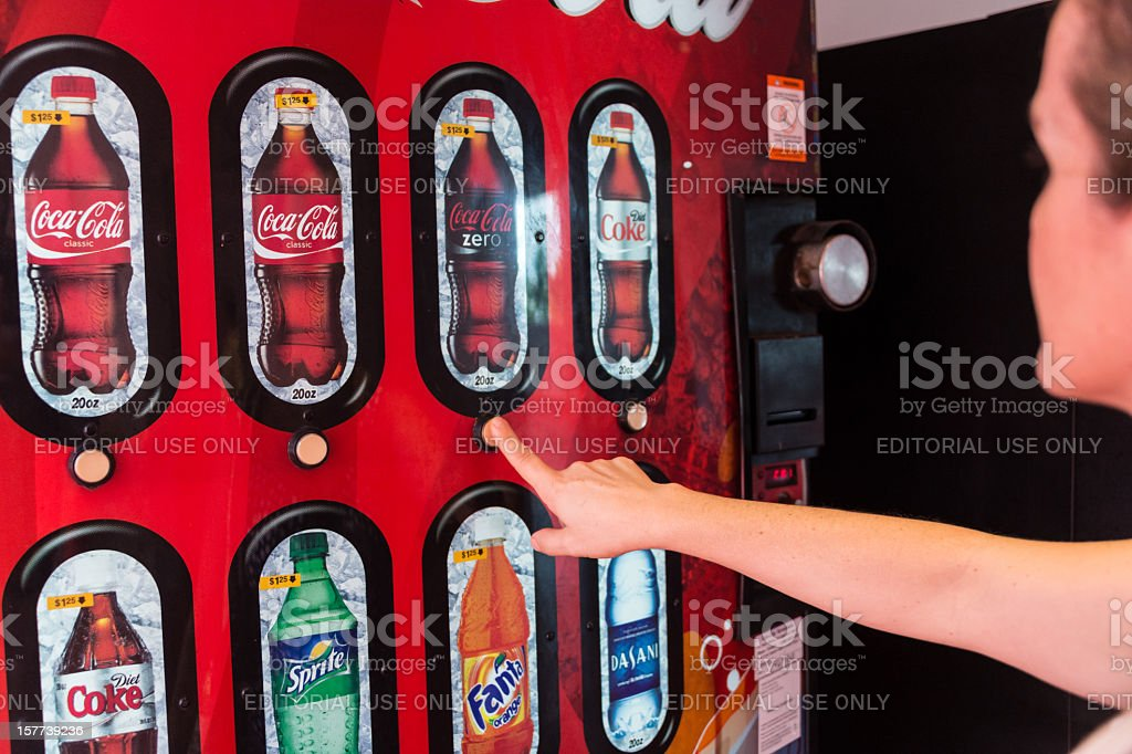 Coke Vending Machine royalty-free stock photo