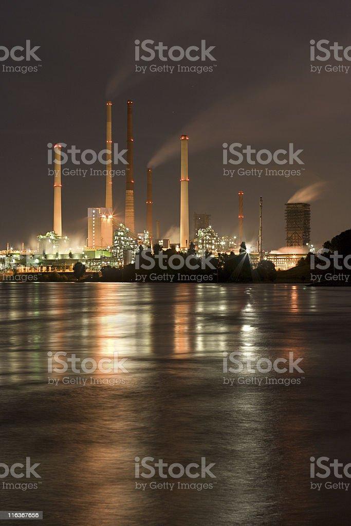 Coking Plant At Night royalty-free stock photo