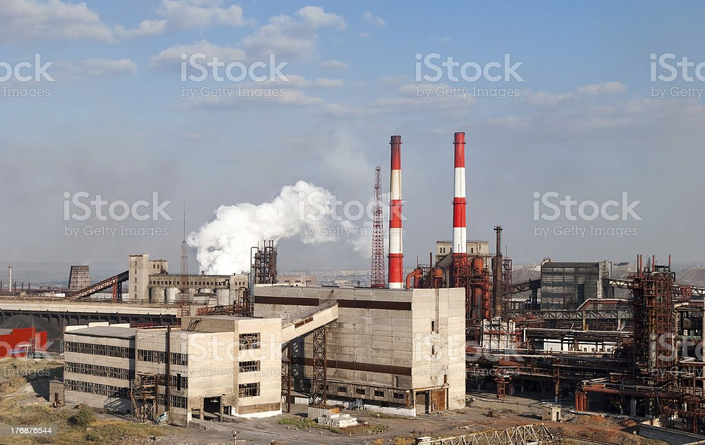 Coking plant stock photo