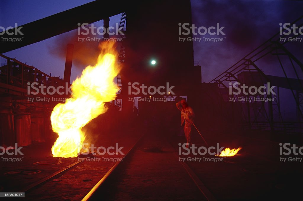 coking plant royalty-free stock photo