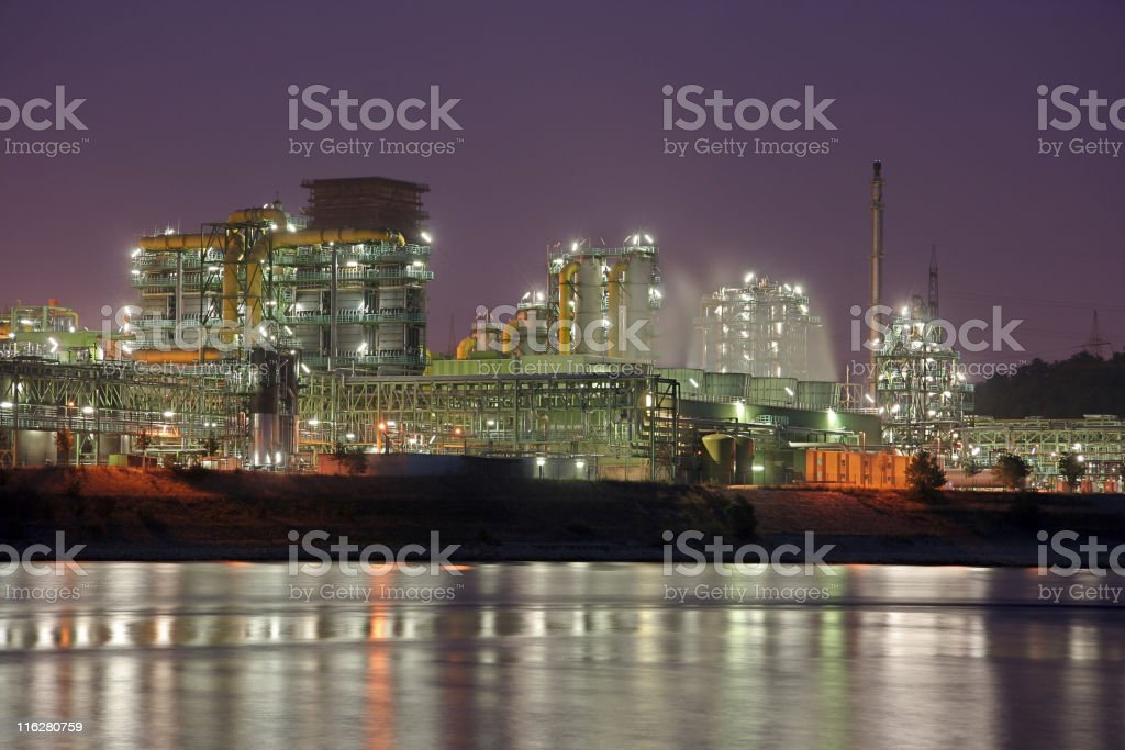 Coking Plant With River royalty-free stock photo