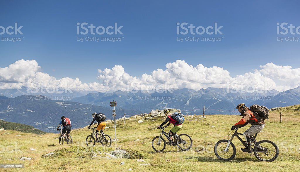 Col d'Anzana downhill, Switzerland stock photo