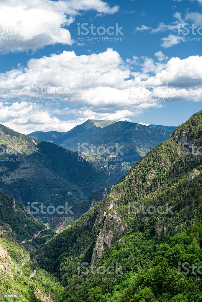 Col de la Couillole (French Alps) stock photo