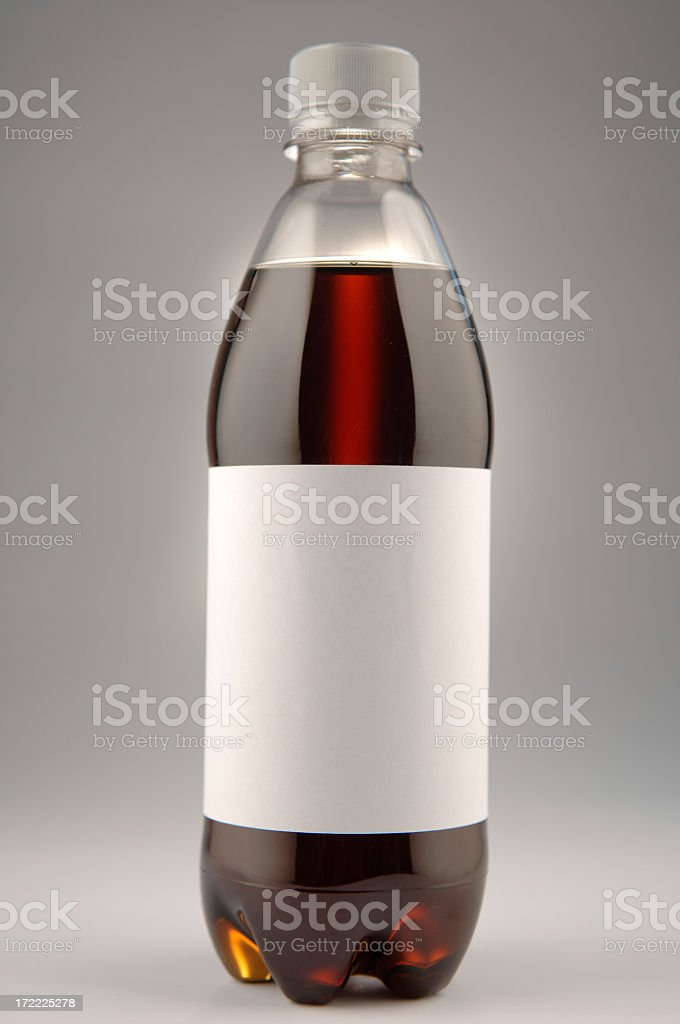 Cola Bottle With Blank Label royalty-free stock photo