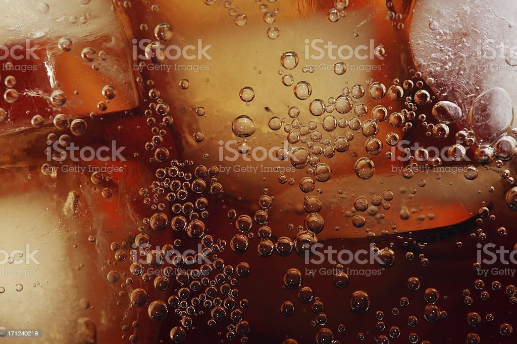 Cola close-up stock photo
