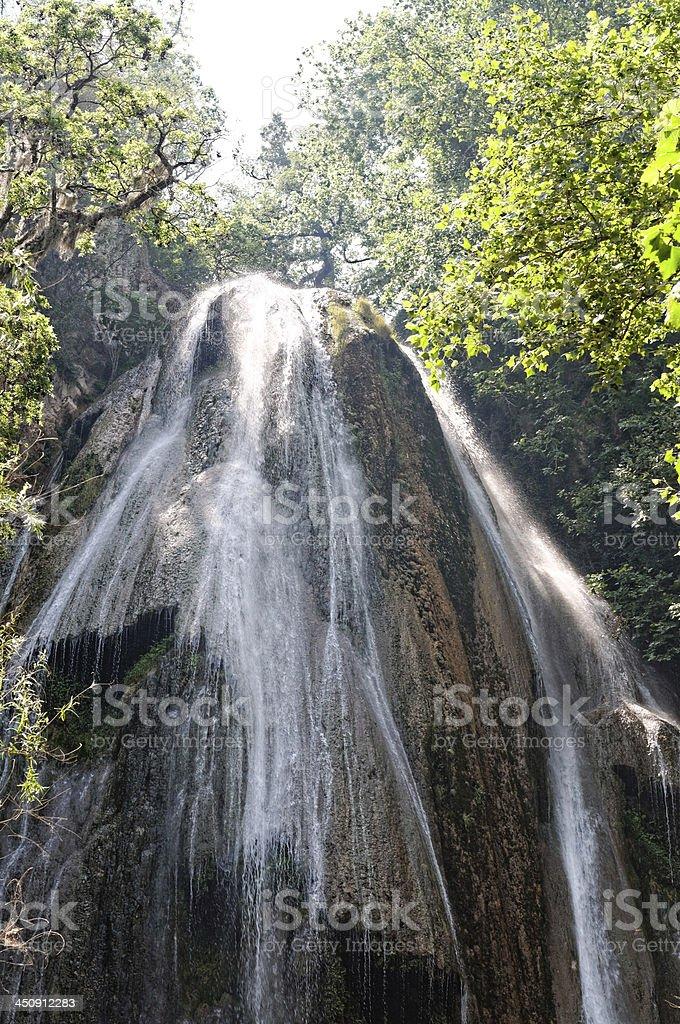 Cola de Caballo waterfall stock photo